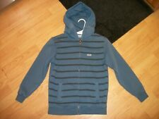 Vans ZipUp Hoodie Boys Size Small Blue Striped