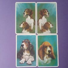 Swap cards vintage DOGS - 4 GENUINE VINTAGE 1970'S DOGS - COLLECTABLE