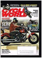 CYCLE WORLD JUNE 2012 HD SOFTAIL SLIM BMW C650GT GUZZI 500cc V8 GP YAMAHA WR450F