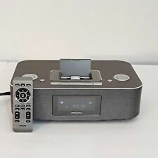 Philips Dock Entertainment System DC290B IPOD/IPHONE Alarm Clock Speaker Dock