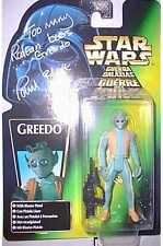 Star Wars Greed Figure - Mint on Card AUTOGRAPHED by Paul Blake
