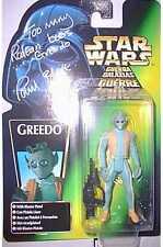 Figura De Star Wars Greedo-menta en tarjeta Autografiada Por Paul Blake