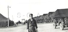 WWII Large (4.25 x 3.0) RP- Occupied Germany- 2nd Armored Cavalry- Jeep- Tents
