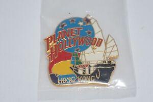 """Planet Hollywood HongKong """"Sail Boat""""  Classic Logo Pin - Vintage"""