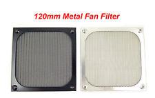 120mm Metal Case Fan Air Filter Dustproof Mesh Grill Guard  (Black / Silver)
