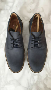 Mens Clarks Un Elott Lace blue Nubuck shoes uk 6