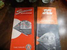 Seaboard Railroad/ Seaboard Coast Line Timetables 1965, 1970