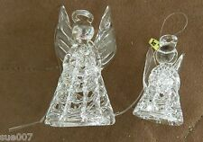 "39 Vintage Blown Spun Glass Angel Ornaments Christmas Tree 3"" & 2"" Sizes Boxed"