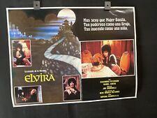 "1988 ELVIRA Casandra Peterson Original HORROR Mexican Lobby Card 16""x12"""