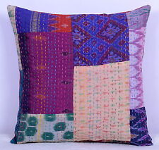Indian Raw Silk Cushion Covers Patchwork Decor Handmade Pillow Cover Throw Boho