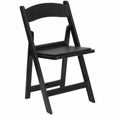 4 Folding Resin Chair Black Wedding Party School Event Heavy Duty Outdoor Chairs
