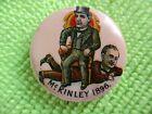 1896 McKinley & William Jennings Bryan Presidential Pinback Celluloid Button