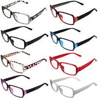 Unisex Clear Retro style Shell Lens Plain Nerd Geek Glasses With Plastic Frame