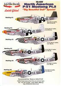 Lifelike Decals 1/72 NORTH AMERICAN P-51 MUSTANG Fighter Part 3