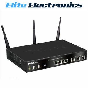 D-LINK DSR-1000AC WIRELESS AC UNIFIED SERVICES VPN ROUTER 4 LAN & 2 GIGABIT WAN