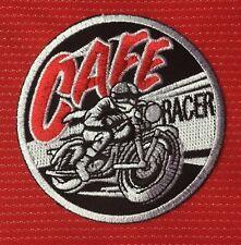 CAFE RACER TT VINTAGE BRITISH MOTORCYCLES BIKER BSA AJS BADGE IRON SEW ON PATCH