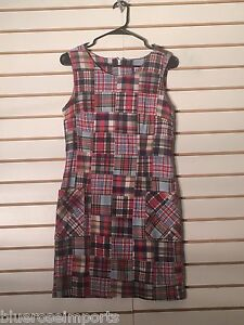 Women's Short Sleeve Red Plaid Dress by Preppy Girl (01762)