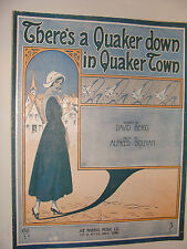 There's a Quaker Down in Quaker Town 1916 by Berg, Solman Cover art by De Takacs