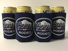 Coors Banquet Rodeo Beer Can / Bottle Koozie Cooler ~ Four (4) ~ NEW & F/S