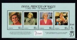 SAMOA Diana, Princess of Wales MNH souvenir sheet