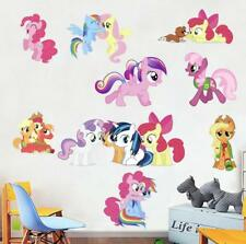 New My Little Pony removable Wall Stickers Kids Home playroom nursing Decor Usa