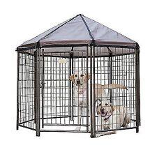 New listing House Pet Gazebo Advantek Kennels Modular Outdoor Dog Crates Kennel Camping Bed