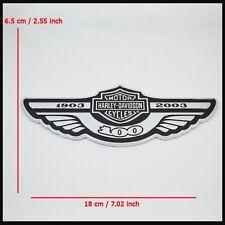 Part For Harley Davidson 100th Anniversary 3D Metal Gas Tank Trunk Emblem Badge