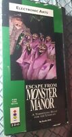 Panasonic 3DO Escape From Monster Manor Video Game Complete in Long Box, Tested