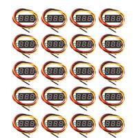 20Pc Digital DC 0-100V Voltmeter Voltimetro Red LED Volt Meter Voltage Gauge