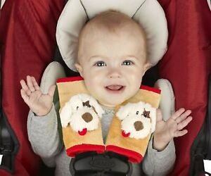 Jeep Car Seat Strap Covers 2 Pack, Plush Puppy Baby Car Seat Protectors NEW