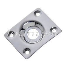 Chrome Blank Jack Plate For  SG Etc Electric Guitar Jack Plate