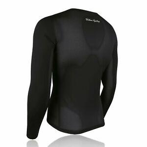 Men's Mesh Base Layer - Black Long Sleeve Cycling Undershirt
