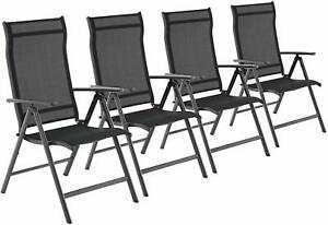 4er Set Gartenstühle Klappstühle Terrassenstühle verstellbar Stühle Alu bis150kg