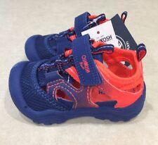 """OSHKOSH """"Hyper-B"""" Toddler Sporty Navy & Red Orange Sandals~~Size 5"""