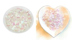 Lady-Muck1: 10g Translucent Iridescent Cup - Flower Sequins Confetti - UK Seller