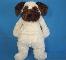 "JellyCat Pug Cream Brown Dog Bunglie Plush Stuffed Animal 16"""