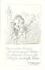 Ausgearteter fantasia, W. Hoffmann, età Stampa foglio di calendario