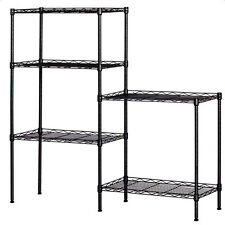 "60""x24""x14"" Heavy Duty 5 Tier Wire Shelving Rack Adjustable Shelf Storage Unit"