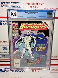 CGC 9.8 WHITE PAGES WEST COAST AVENGERS #45 1ST APPEARANCE WHITE VISION DISNEY+