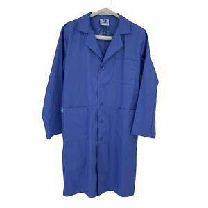 Adar 803 Universal Blue Lab Coat Unisex Size 38 Medical Uniforms Scrubs Pockets