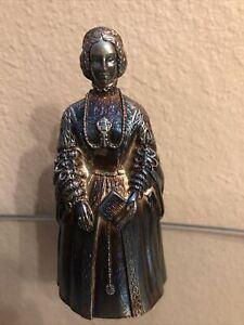 Vintage Gorham Bronze Silver Plated Isabella I Figural Dinner Bell