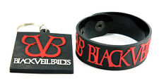 BLACK VEIL BRIDES 1x Rubber Bracelet Wristband &1x Keychain /Knives And Pens aw1