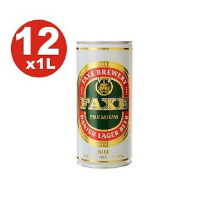 12 x Faxe Premium Dänische Lagerbier 5 % vol 1 Liter Dose 2,47€/L