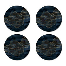 Cork Drink Coaster Set of 4 Coasters New Modern Flow Round Kitchen Table Bar mat