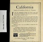 1904 Burlington Route Railroad California Land of Sunshine Vintage Print Ad 5120