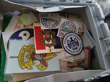 LOT VINTAGE BSA BOY SCOUTS OF AMERICA DECAL STICKER 2+ POUNDS