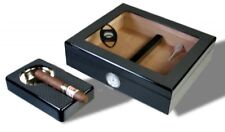 Kristallglas Carbon Finish Humidor-Set V-240, statt: 110,00 €