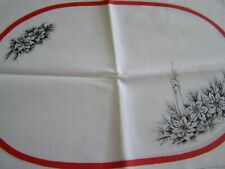 TRI CHEM POINSETTIA PLACE MATS SET OF 4  ARTS AND CRAFTS