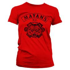 Officially Licensed Mayans M.C. Kutte Women's T-Shirt S-XXL Sizes