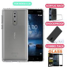 Hybrid Crystal Heavy Duty Bumper Case Cover for Nokia 6 / Nokia 8